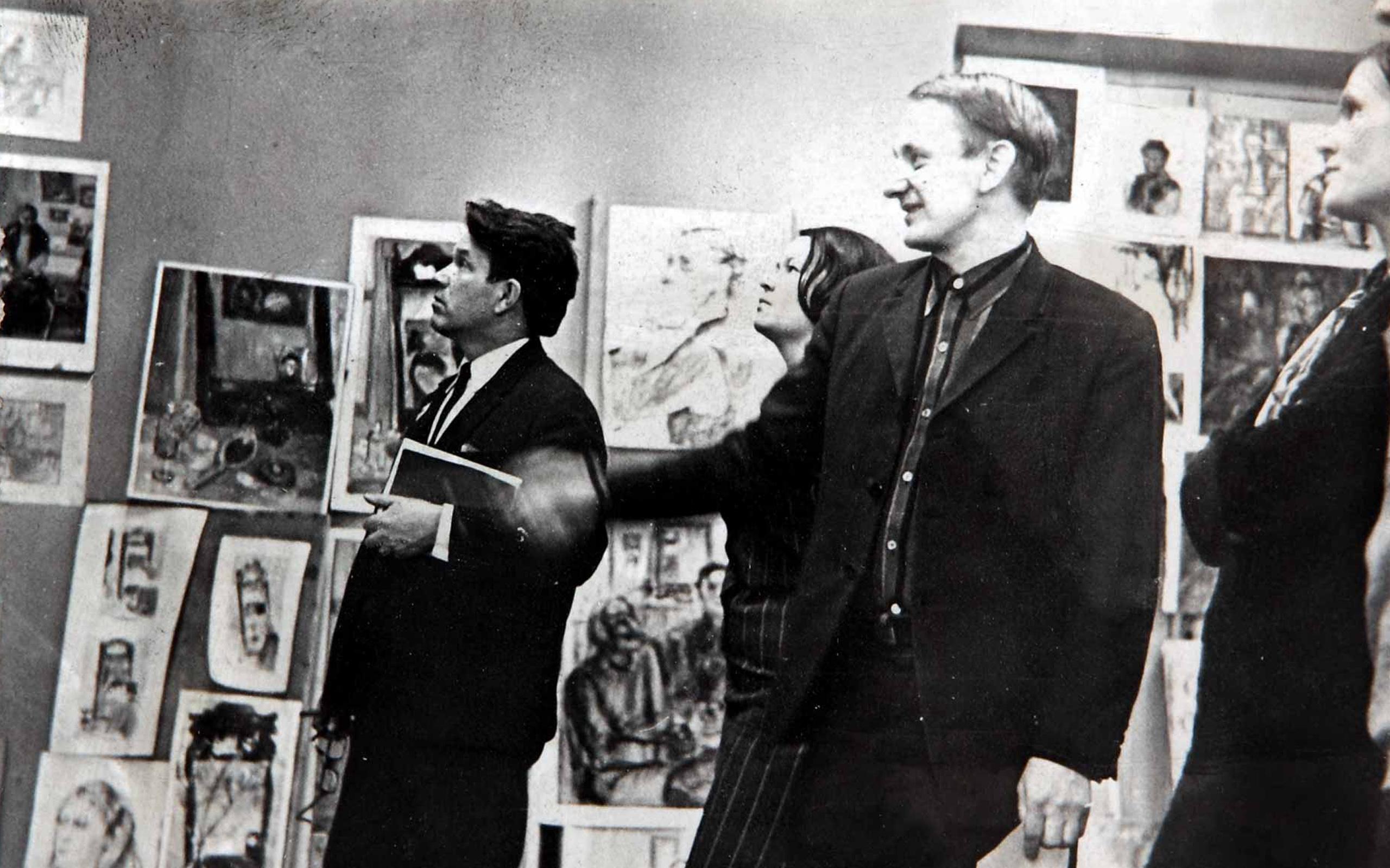 1972 год. На просмотре курсовых работ. Слева направо Г.В. Анциферов, Э.А. Осаяну, Н.М. Морозов, Л.Н. Гончар